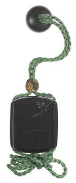 SHIBATA ZESHIN 柴田是真 (1807–1891) MINIATURE INRŌ WITH WRITING UTENSILS AND PLUM BRANCH 文房具梅枝蒔絵小印籠 Meiji era (1868–1912), circa 1870–1890