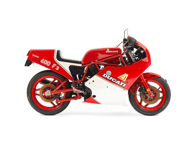 c.1986 Ducati 400 F3 Frame no. ZDM750R 75000 Engine no. ZDM350L 03355