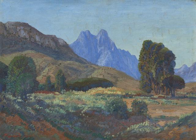 Jacob Hendrik Pierneef (South African, 1886-1957) Jonkershoek, Stellenbosch