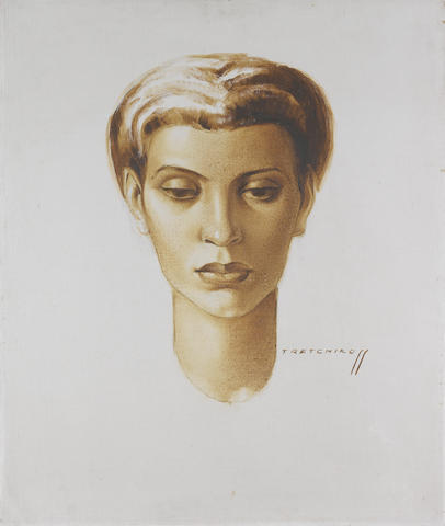Vladimir Griegorovich Tretchikoff (South African, 1913-2006) Portrait of a young woman