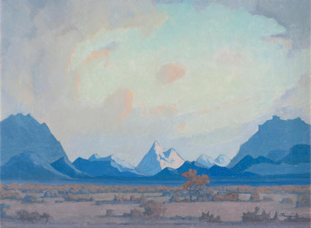 Jacob Hendrik Pierneef (South African, 1886-1957) South West African Landscape