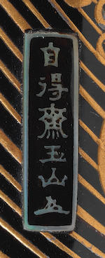 ŌMURA GYOKUZAN 大村玉山 (died circa 1830) INRŌ WITH BRUSHWOOD RAFTS 芝舟蒔絵印籠 Edo period (1615–1868), circa 1815–1830