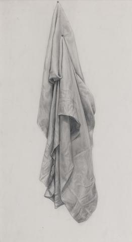 Alberto Morrocco OBE RSA RSW RP RGI LLD D Univ (British, 1917-1998) Drapery 39.5 x 22.5 cm. (15 9/16 x 8 7/8 in.)