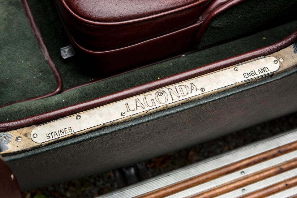 1931 Lagonda 2-Litre Supercharged Low Chassis Tourer  Chassis no. 0H9764