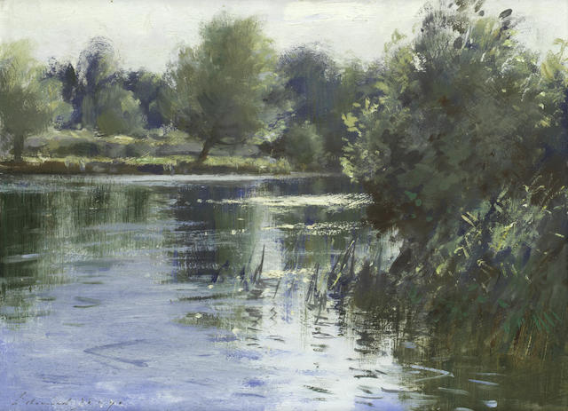 Edward Seago, RWS (British, 1910-1974) Morning sunlight - Womack Water