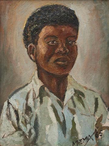 George Milwa Mnyaluza Pemba (South African, 1912-2001) Portrait of a boy