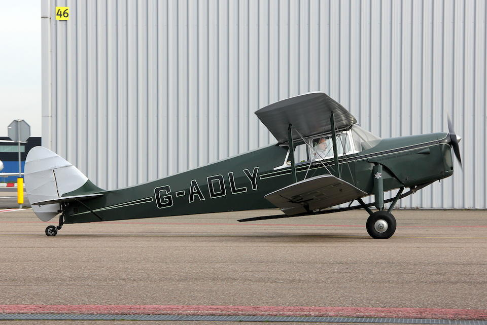 Formerly the property of Victor Gauntlett and P&A Wood,1935 De Havilland  DH87 Hornet Moth Four-Seat Cabin Biplane  Chassis no. 8020