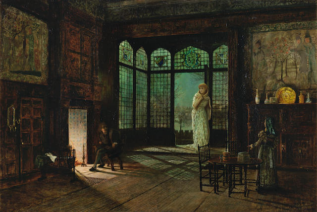 John Atkinson Grimshaw (British, 1836-1893) A scene from Act II, Jane Shore