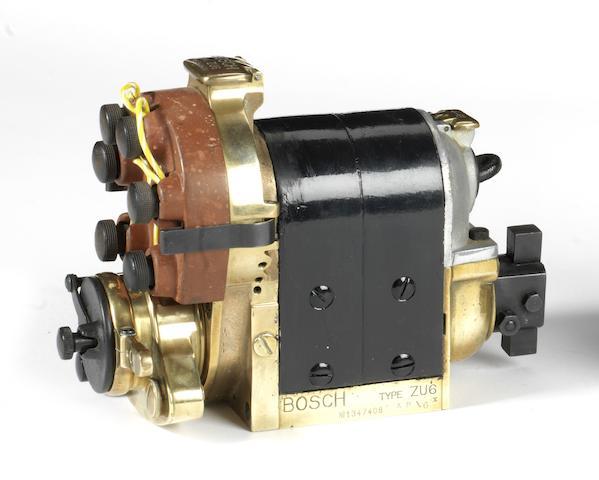 A Bosch Type ZU6 'dual-spark' magneto,