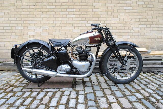 Bonhams 1938 Triumph 498cc Speed Twintiger 100 Frame No Th1955