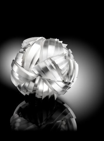KEVIN GREY: A silver sculptural centrepiece 'Animus'  Birmingham 2015
