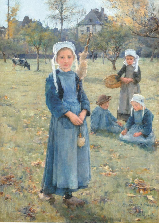 Sir George Clausen, RA, RWS (British, 1852-1944) Marie, a peasant girl of Quimperlé