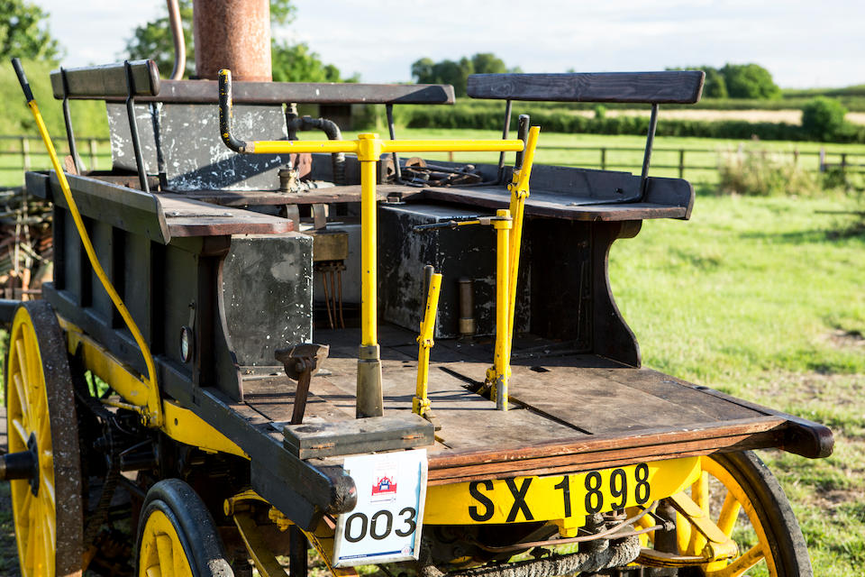 The ex-George Milligen Collection, 2017 LBVCR entered,1896 Salvesen Steam Cart  Chassis no. SA1