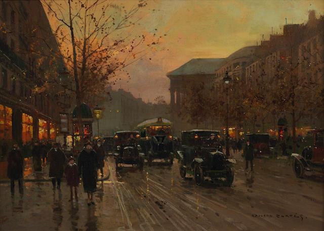Edouard Henri Leon Cortès (French, 1882-1969) Boulevard de la Madeleine