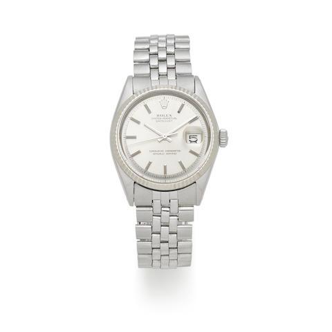 Rolex. A stainless steel automatic calendar bracelet watch  Datejust, Ref: 1601, Circa 1970
