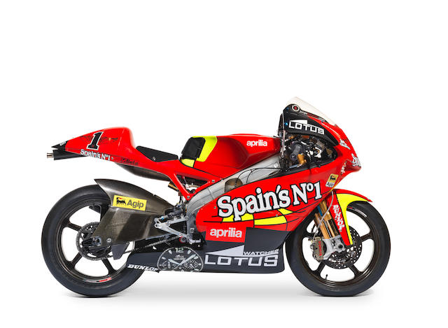 The ex-works, Jorge Lorenzo, World Championship-winning,2007 Aprilia 250cc RSW Grand Prix Racing Motorcycle