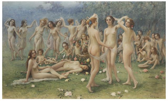 Fausto Zonaro (Italian, 1854-1929) Allegoria della primavera
