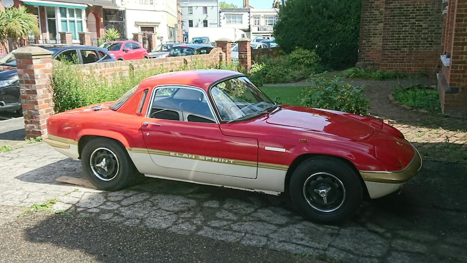 Single family ownership from new,1972 Lotus Elan S4 Sprint Coupé  Chassis no. 72100565E