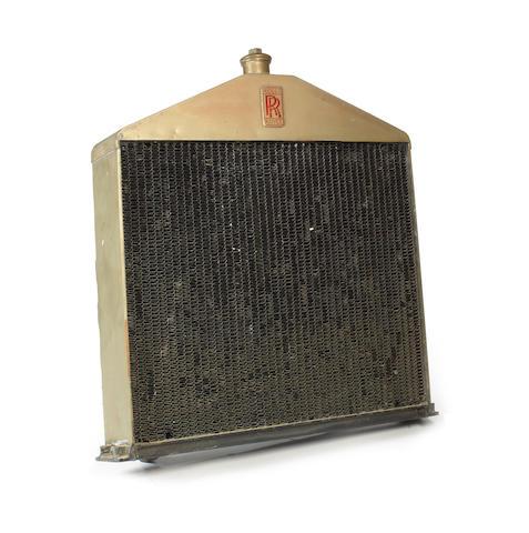 A Rolls-Royce Silver Ghost radiator,