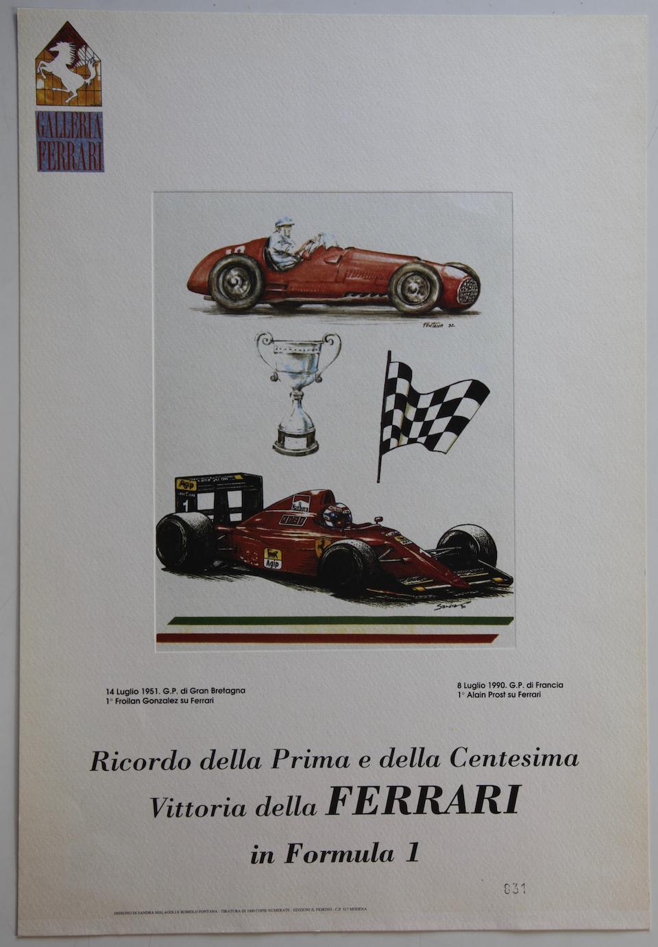 Sandra Malagolle & Romolo Fontana 4 lithographies 34x50cm