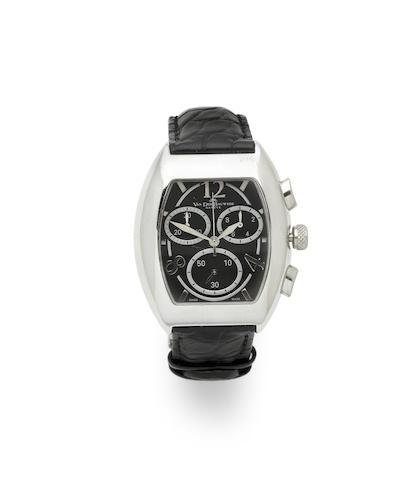 Van Der Bauwede. A silver quartz chronograph wristwatch  Magnum XS, Ref: 2600, Circa 2000