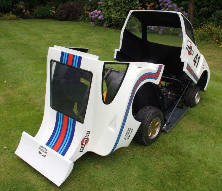 A petrol driven half scale Porsche 935 child's car,