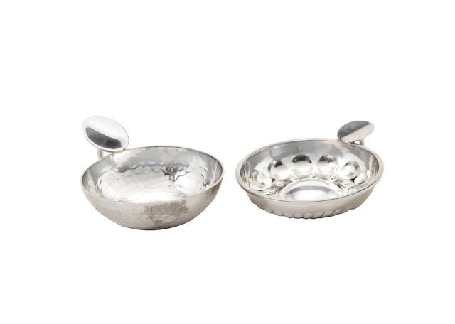 two silver ashtrays by jean després MAKER'S MARKS, CIRCA 1925