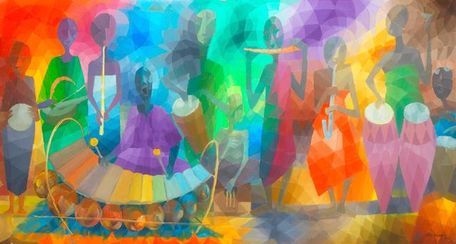 Ato Delaquis (Ghanaian, born 1945) The Orchestra