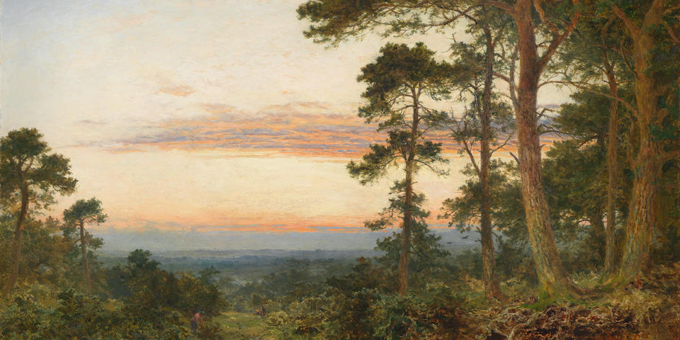 Benjamin Williams Leader, RA (British, 1831-1923) 'Evening among the Surrey Pines'