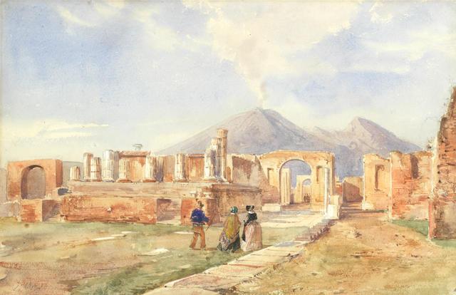 Alessandro La Volpe (Italian, 1820-1887) Ruins at Pompei