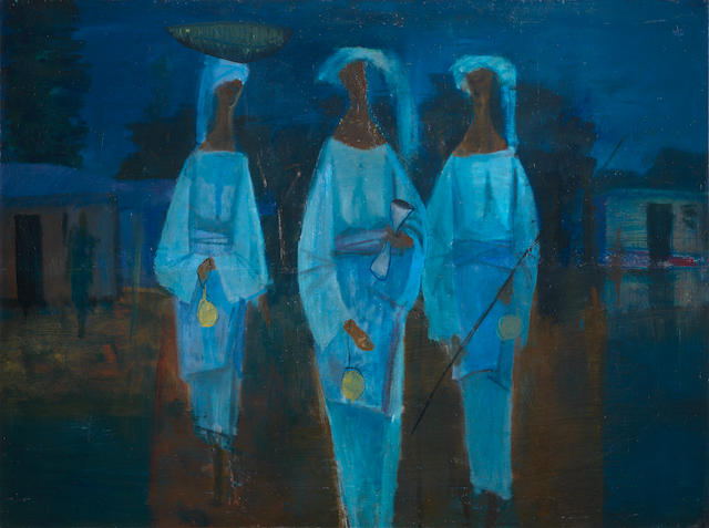 Yusuf Adebayo Cameron Grillo (Nigerian, born 1934) Three Friends