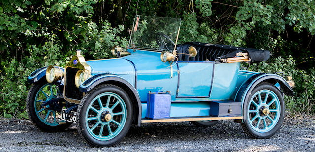 1914 Calcott 10½hp Two-seater plus Dickey  Chassis no. 350