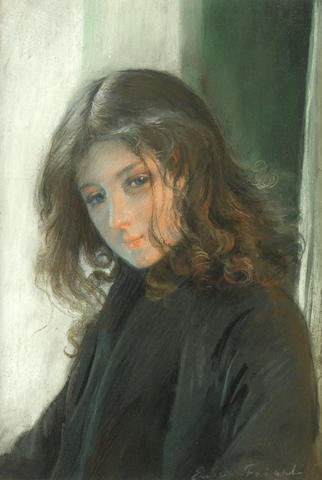 Emile Friant (French, 1863-1932) Portrait of a girl