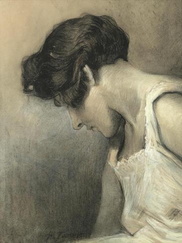 Jan Toorop (Dutch, 1858-1928) Portrait of a girl