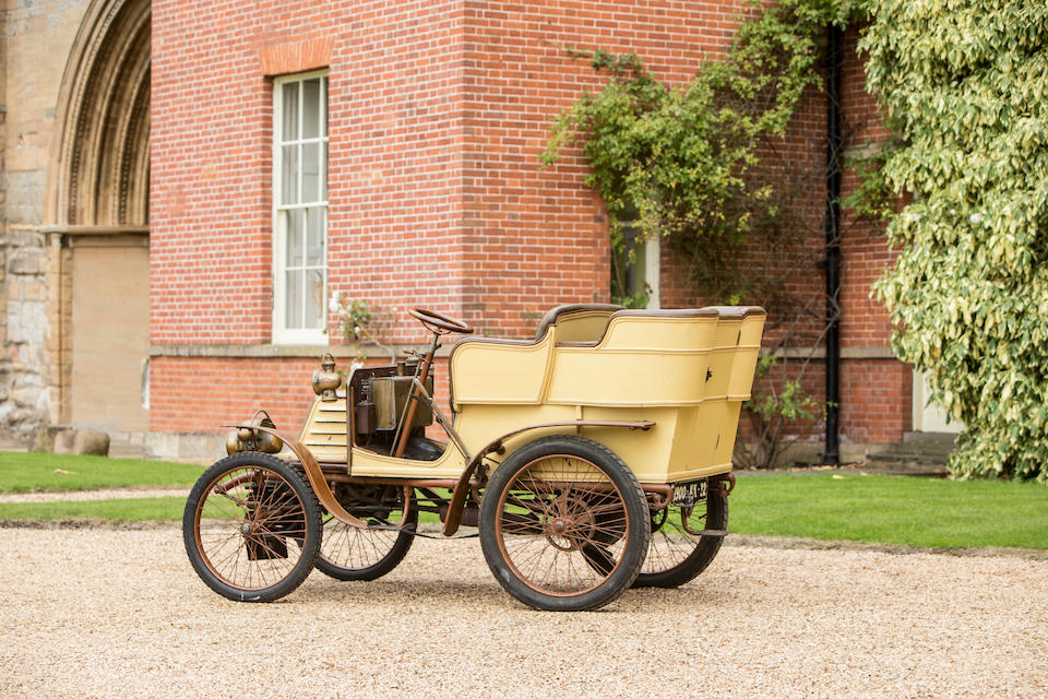 1900 Georges Richard 3½hp Rear Entrance Tonneau Car  Chassis no. F20