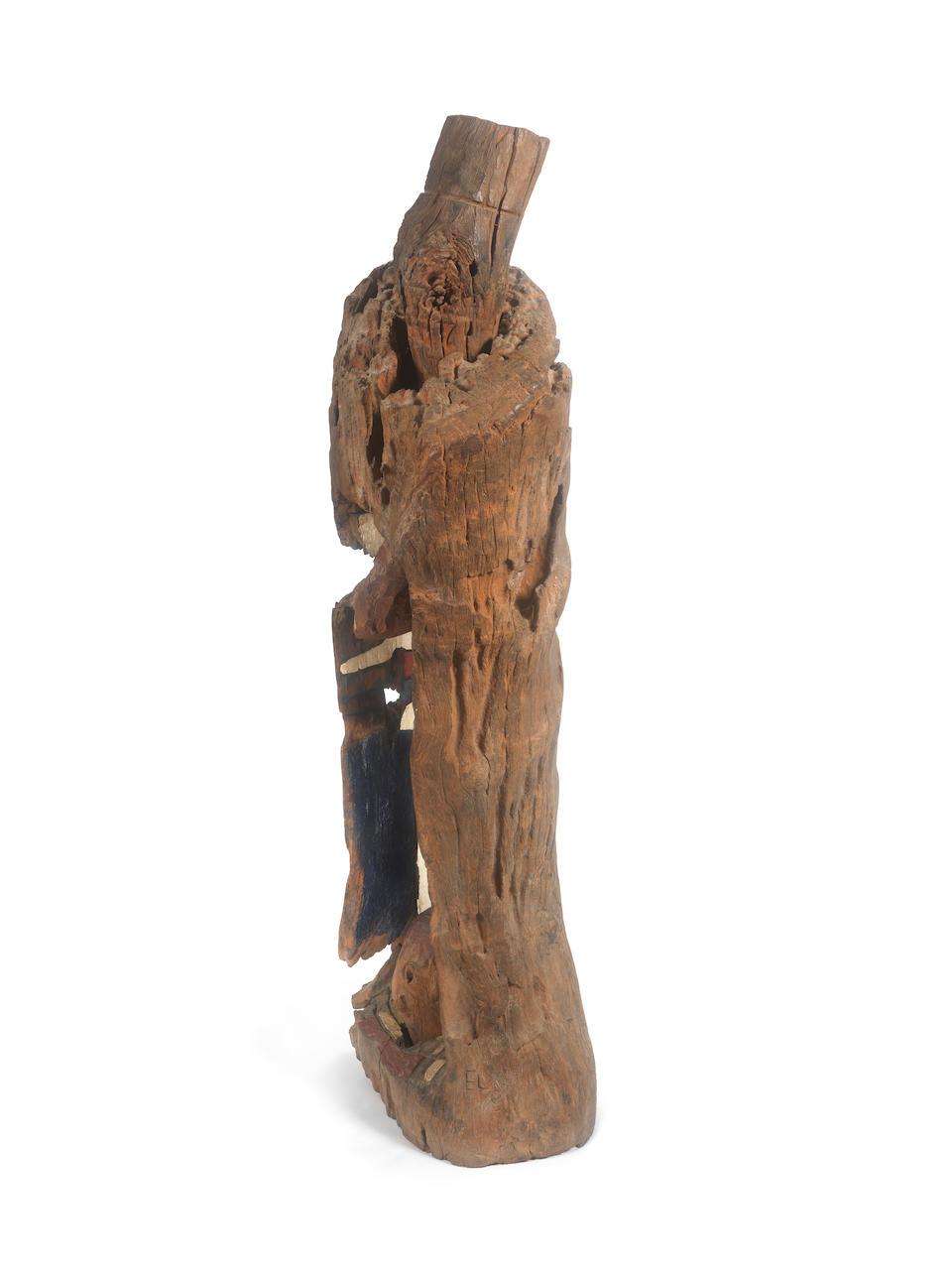 El Anatsui (Ghanaian, born 1944) 'Farmer's Dream' 120 x 50 x 40cm (47 1/4 x 19 11/16 x 15 3/4in).