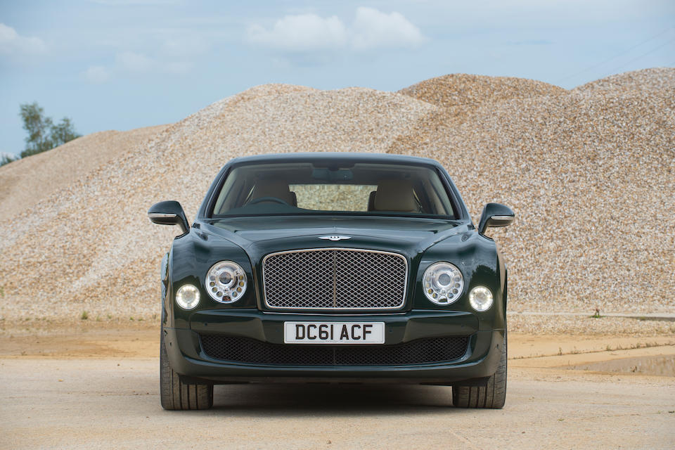 Formerly the personal conveyance of HM the Queen,2012 Bentley Mulsanne Saloon  Chassis no. SCBBA63Y5CC016596