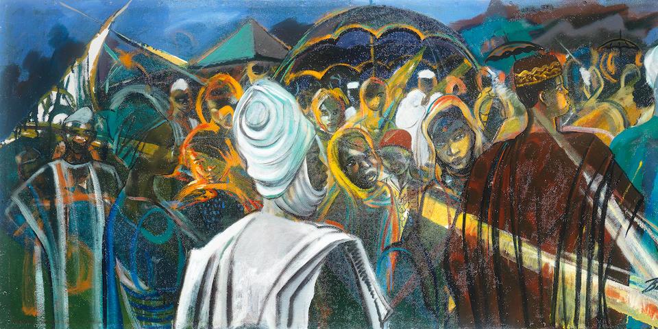Benedict Chukwukadibia Enwonwu M.B.E (Nigerian, 1917-1994) Nigerian Symphony