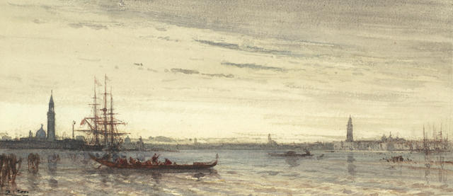 Félix François Georges Philibert Ziem (French, 1821-1911) The lagoon Venice