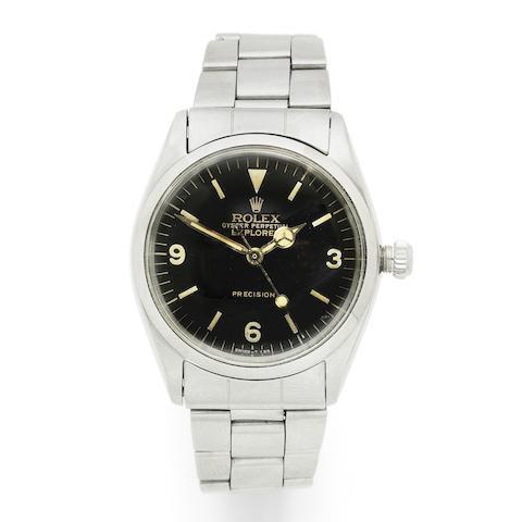 Rolex. A stainless steel automatic bracelet watch  Explorer, Ref: 5500, Circa 1960