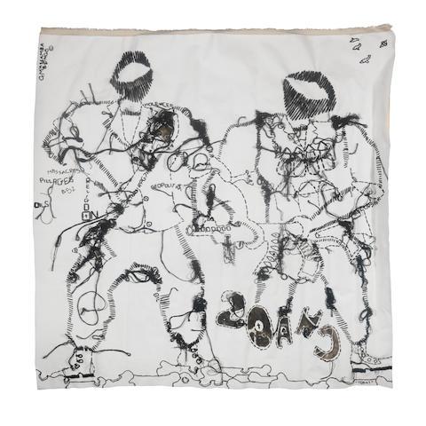 Gastineau Massamba (Congolese, born 1973) 'Chaos' (2016)                    unframed.