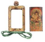 ARTIST UNKNOWN 作者不詳 SHEATH INRŌ WITH BUDDHIST PAINTINGS 仏画蒔絵鞘印籠 Meiji era (1868–1912), late 19th century–early 20th century