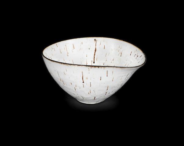 Dame Lucie Rie (Austrian, 1902-1995); A Large Stoneware Bowl IMPRESSED 'LR' SEAL; CIRCA 1955