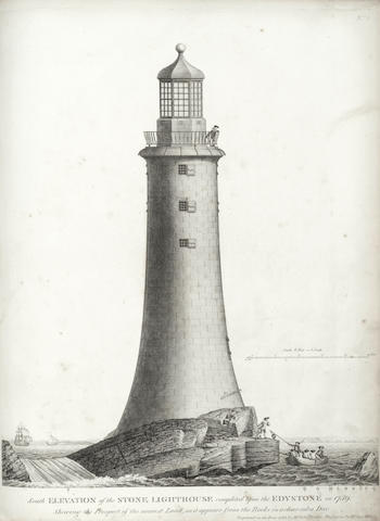 SMEATON (JOHN) A Narrative of the Building and a Description of the Construction of the Edystone Lighthouse with Stone, FIRST EDITION, for the Author, by H. Hughes, 1791