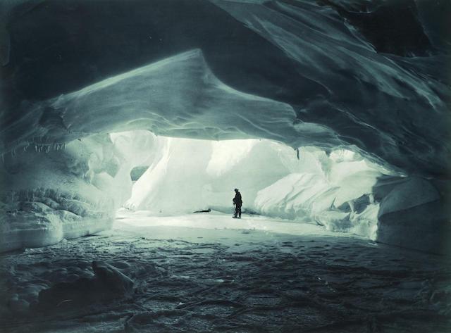 "HURLEY (FRANK) ""A Cavern beneath the Coastal Ice Cliffs"", [1911-1914]"