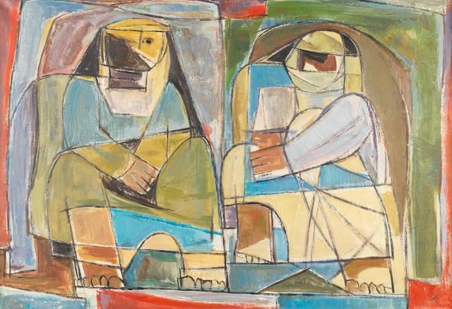 Faeq Hassan (Iraq, 1914-1992) Abstract Man and Woman