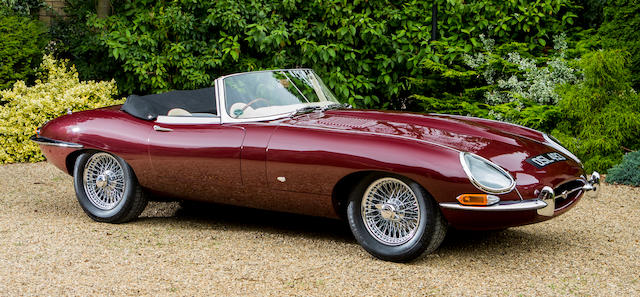 1961 Jaguar E-Type Series 1 3.8-Litre 'Flat Floor' 'External Bonnet Lock' Roadster   Chassis no. 875202