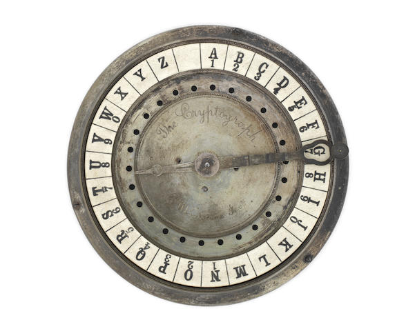 A Charles Wheatstone Cryptograph,  English, mid 19th century,
