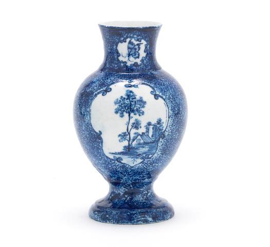 A rare Derby vase, circa 1765