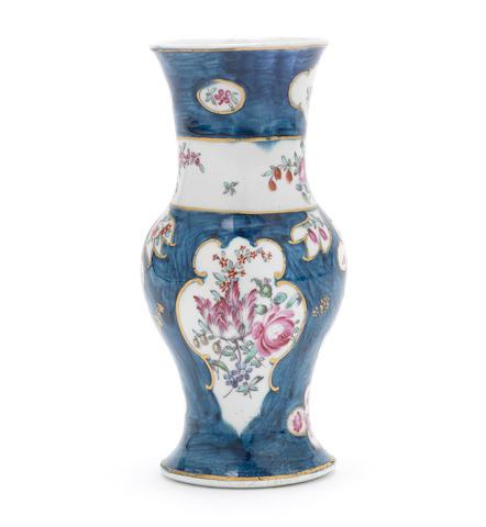A Liverpool (Philip Christian) vase, circa 1768-78